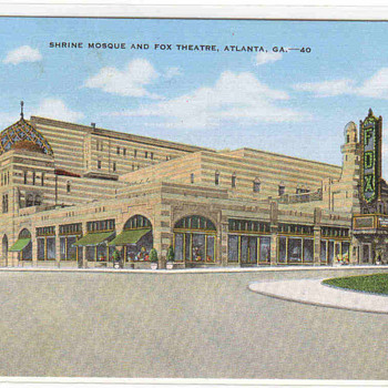 """The Fox Theater""- Atlanta Vintage Postcard"