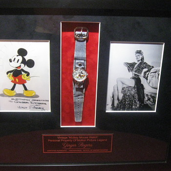 Ginger Rogers  .  .  .  Personal Mickey Mouse Watch - Movies