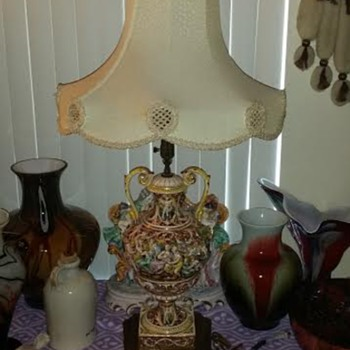 1930's Capodimonte Lamp - Lamps