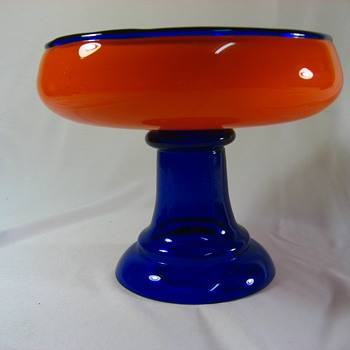 Rare Color Loetz Tango Compote - Art Glass