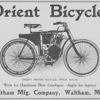 1902 Orient Motor Bicycles Advertisement - Advertising