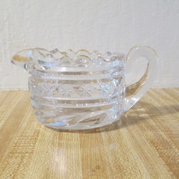 Pressed Glass/Pattern Glass Creamer