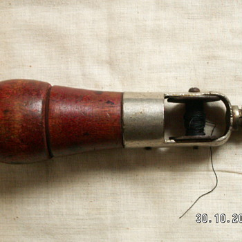 "Antique Stitching Awl  ~marked: PAT'D Mar 31 1903. "" March 28 1905. - Sewing"