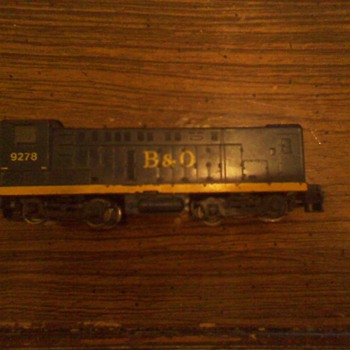 Baltimore and Ohio HO Scale 9278 Diesel Engine - Model Trains