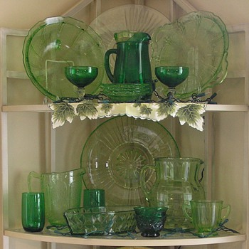 Some of my Depression Glass collection - Glassware