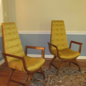 High Back Chairs - Mid Century Modern?