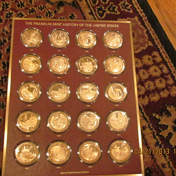 Bronze Franklin Mint History of the United States  - US Coins