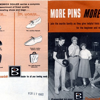 More Pins, More Fun - Brunswick Bowling Booklet 1962 - Sporting Goods