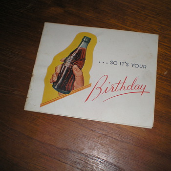 1950s Coca-Cola Birthday Card