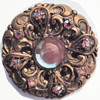 Saphiret Vintage Big Czech Brooch