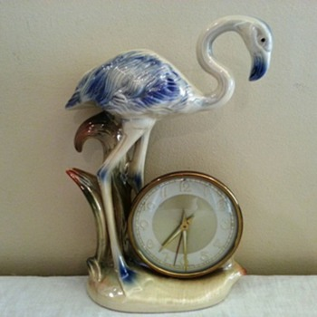 Jema Holland (424) Flamingo Mantle Clock
