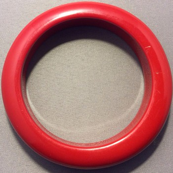 Red Bakelite bangle ? - Costume Jewelry