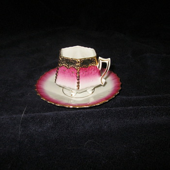 Pink and Gold Cup and Saucer