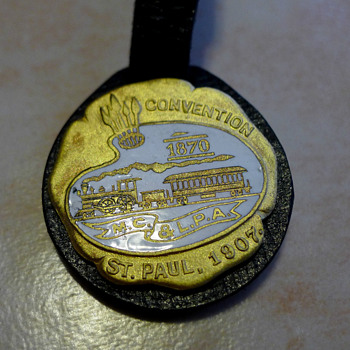 1907 Master Car & Locomotive Painters Assn Enamel Fob by Ball Chemical Co
