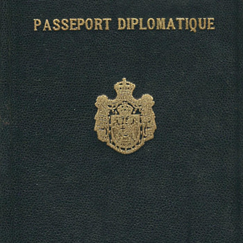 1938-40 Yugoslavian diplomatic passport