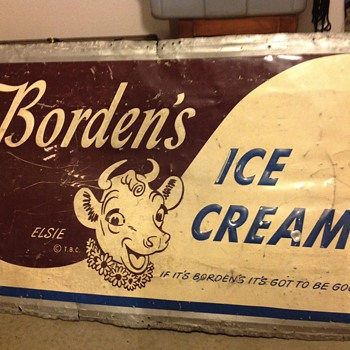 Borden's Elsie the Cow sign - Advertising
