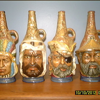 Complete Set Face's Of The World Wine Bottles