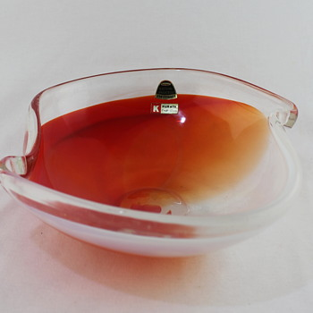 Glass salad bowl from Kurata