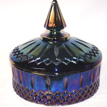 "Iridescent Blue,,Candy Dish""second half XX Century"