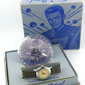 1950's Buzz Corey Space Patrol U.S. Time Watch w/ Box & Compass - Wristwatches