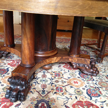 Unusual claw foot table?