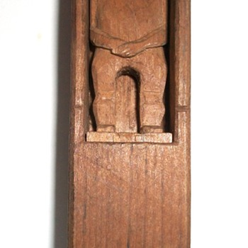 Folk Art Dead Man  Carved whimsy  Man in a Box collection Jim Linderman