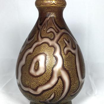 """Loetz """"Octopus (Federzeichnung)"""" Vase. 8"""" Tall. Circa 1887"""