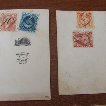 Revenue Stamps on carte de visite photographs