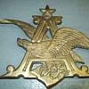 Brass Anheuser Busch A & Eagle