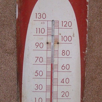 Coca Cola Wall Thermometer AKA Cigar Themometer