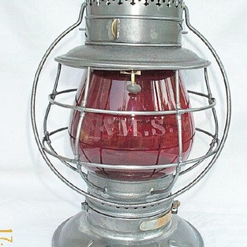 LS&amp;MS Railroad Lantern - Railroadiana