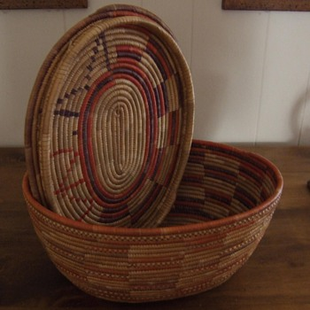 Native American basket with top