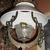 1870's Lomax Eastlake cast iron hanging oil lamp