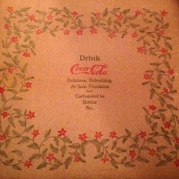 1900 Coca Cola Napkin - Coca-Cola