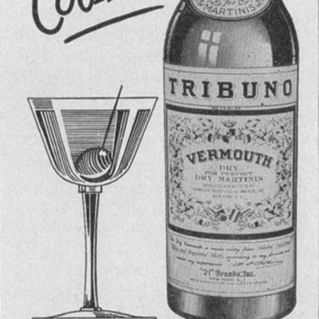1950 Tribuno Vermouth Advertisement - Advertising