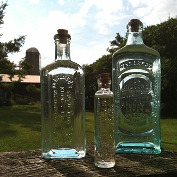 3 Variations of Dr. Kilmer's Swamp Root - Bottles