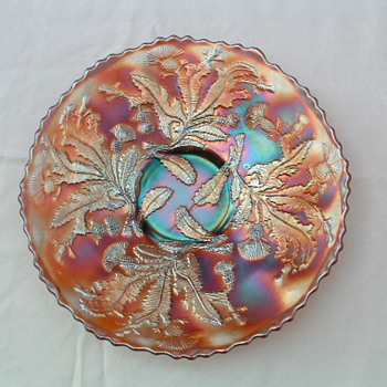9 inch Fenton Thistle plate 