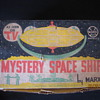Early 1960's Louis Marx Mystery Space Ship Play Set With Original Box