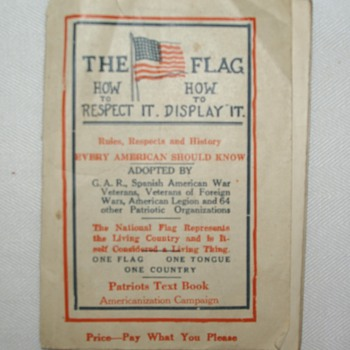 The Flag How to Respect It and How to Display It Booklet - Books