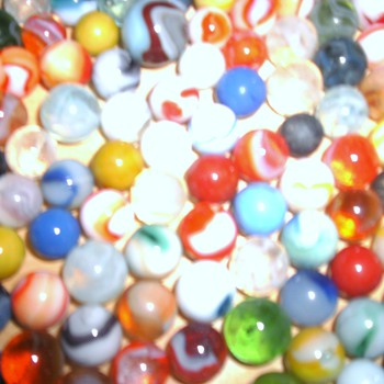 Over 200 Glass and Machine Made Marbles - Art Glass