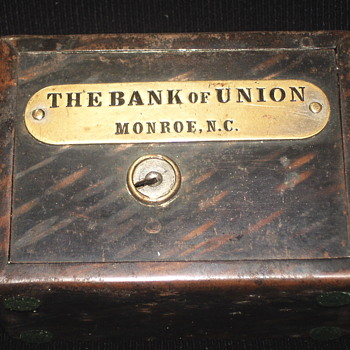 "Promotional Advertising Bank""The Bank Of Union""Monroe,North Carolina,, Circa 1900 - Coin Operated"