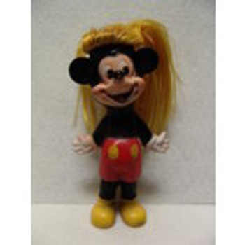 UNUSUAL RUBBER GUND MICKEY DOLL