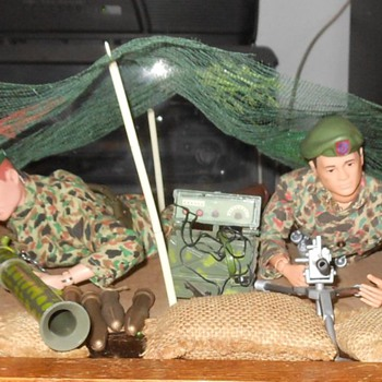 GI Joe Green Beret Machine Gun Outpost Set 1966 - Toys