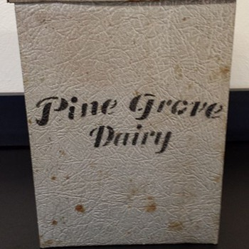 PORCH MILK BOX/COOLER-INSULATED-ALUMINUM  - Advertising
