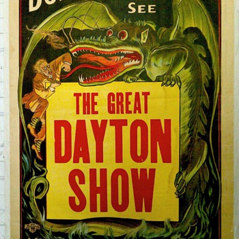 """The Great Dayton Show"" Original Stone Lithograph Poster - Posters and Prints"