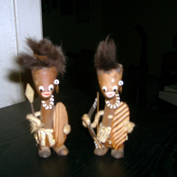 Little Wooden Tribal Dolls
