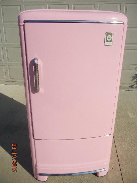 vintage 1950s pink fridge refrigerator like new mid