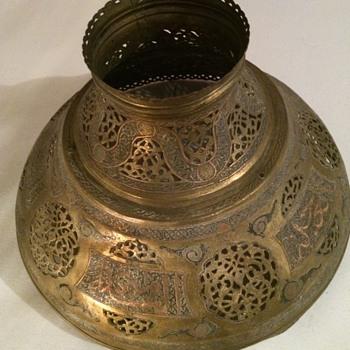 Vintage Mixed Metals Hanging Lamp Shade