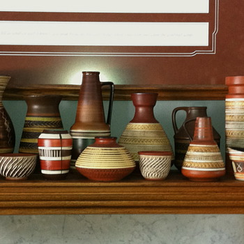 West German Pottery, my collection - Art Pottery