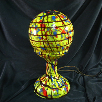 My favorite Czech lamp and more black light - Art Glass
